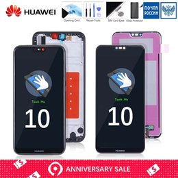 super tela de frete grátis Desconto Completa LCD Original para Huawei P20 Lite Tela de toque com quadro Substituir para HUAWEI P20 Lite LCD ane-LX1 LX1 Nova 3e