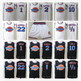 confiture chemise Promotion Cousu Space Jam Tune Squad Maillots Michael 1 Bugs Twetty 1/3 Murray Lola Taz! D.Duck SHORT Halloween chemises noires Road Runner LePew HOT