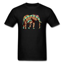 0b80d332693624 t shirt elephant Promo Codes - Fashion Design Mandala Elephant Men T-Shirt  O Neck