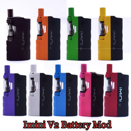 Kits de mod de boîte de vaporisateur en Ligne-100% authentique imini V2 Kit 650mAh Batterie Box Mod huile à l'huile épaisse batterie 510 Fil 0.5ml 1.0ml Kits de vaporisateur à cartouche Imini Tank