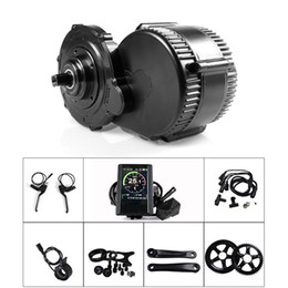 Fahrradzubehör online-BBS02B 48V 750W 8fun Bafang Mid Drive Motor Kit mit Gang Sensor 6V Lichtkabel Ebike Fahrrad Umbausatz Vollfarbanzeige