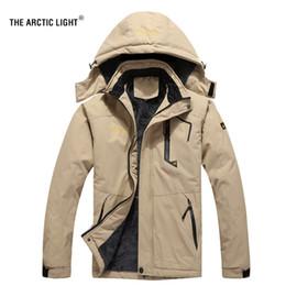 2019 arktische jacken Die arctic light ski jacke männer wasserdichte fleece schnee thermo mantel für outdoor mountain ski snowboard jacke plus größe günstig arktische jacken