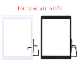 touchscreen per ipad Sconti 15Pcs Per iPad Air 1 iPad Touch Screen 5 A1474 A1475 A147 pannello digitalizzatore fronte lente in vetro con tasto home TouchScreen