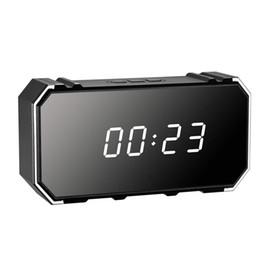 2019 despertador câmera wi-fi 4 K 4096 * 2160 P remoto sem fio Wi-fi despertador câmera Espelho Sem Fio de Segurança Relógio Despertador Cam com Night Vision Home Relógio Eletrônico PQ534 desconto despertador câmera wi-fi