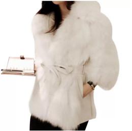 Cappotti di coniglio online-Caldo signore di lusso visone spesso dei cappotti di pelliccia del Faux Fluffy giacca invernale Plus Size falso del cappotto di pelliccia del coniglio Manteau Fourrure Femme 2XL