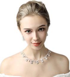 Argentina Pendientes de diamantes de imitación collares Conjuntos de joyas para boda nupcial fiesta 15018 Suministro