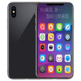 2019 tarjetas sim francesas Goophone XS Celulares 5.8 pulgadas MTK6580P ROM cuádruple 1G RAM 8G se muestra 4G LTE 4G RAM 128GB ROM Smartphones