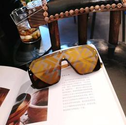 2019 espelhos sem moldura oval Ff homens mulheres designer de óculos de sol de moda ovais óculos de sol uv lente de proteção do revestimento espelho lente sem moldura cor do quadro banhado vem espelhos sem moldura oval barato