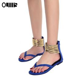 Argentina Nueva llegada de la moda bohemia Lady Sandal Flat Sexy Summer Gladiador Sandalia para mujer Zapato Sandalia Envío gratis Nueva chica de diseño barato elegante Suministro