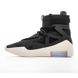 Mais novo ar medo de deus 1 homens sapatos botas de grife botas de basquete sapatos de osso de luz preto vela de basquete sapatos de esportes mens sneakers de Fornecedores de calçados infantis de baixo macio