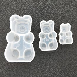 2019 кристаллическая эпоксидная смола DIY Crystal Epoxy Resin Silicone Mould Mirror Sitting Bear Cubs Shaped Decoration Cake Or Desktop Decoration скидка кристаллическая эпоксидная смола