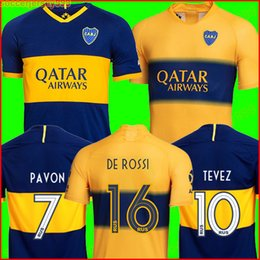 NEUE 2019 2020 Boca Juniors Fußball Trikot Heim Auswärts 19 20 GAGO OSVALDO CARLITOS PEREZ DE ROSSI TEVEZ PAVON JRS Sport Fußball Trikot Uniformen von Fabrikanten