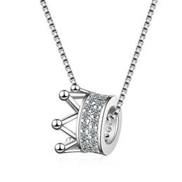 DZ360 O colar feminino versão coreana do pequeno fresco incrustada diamante coroa colar moda INS rainha estilo cadeia curta clavícula de