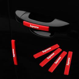 Tiras de protección de borde de puerta de coche online-4pcs tendencia de la moda / Set de vagones anti-colisión de Gaza auto de la puerta parachoques Edge Guardia etiqueta de la cinta de protección del rasguño del coche