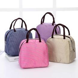 Кулеры для завтрака онлайн-2019 новая полоса теплоизоляция сумки открытый путешествия сумка для пикника кемпинг кулеры сумка портативный ланч-бокс тюк для женщин