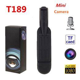 T189 Pen Mini cámara Full HD 1080P Secret CAM Wearable Body Pen Digital Mini DVR Pequeña videocámara DV Cuerpo DVR Cámara Video Grabadora de voz desde fabricantes