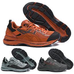 Edições limitadas tênis on-line-2019 Asics X Kiko Kostadinov Gel-Burz 2 Novo Designer De Execução de Sapatos Para Homens Laranja Preto Edição Limitada Esporte Tênis 40-45