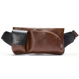 2019 verrückte taschen Neue Männer Brusttasche Designer Messenger Bag Casual Taschen Mode Umhängetasche Crazy Horse Leder Handytaschen Reiten Sporttaschen rabatt verrückte taschen