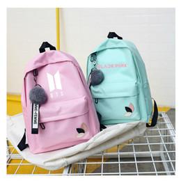 2019 kpop bolsas Bts duas vezes Exo Got7 Monsta X quero um Kpop K-pop K Pop mulheres mochilas feminino saco de escola pacote para adolescente meninas Sac A Dos Y18110202 kpop bolsas barato