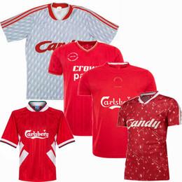 caramelos xl Rebajas Retro Gerrard Alonso Carragher Riise Ian Rush 1985 1989 1990 1993 1995 2005 camisetas de fútbol 93/95 home away candy Camiseta de fútbol retro S-2XL