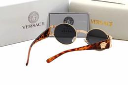 Wickeln sonnenbrille online-919 Designer Marke hochwertige Sonnenbrille für Männer Frauen Wrap Brillen Runde Shades Marke Designer Sonnenbrille Spiegel UV400