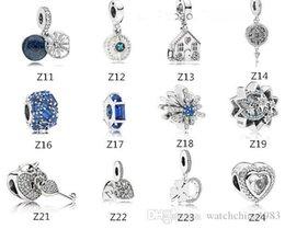 charmes scintillants Promotion s925 Sterling argent perle adapte Pandora Bracelet pour les bijoux faire Cristal Balancent amour Perles Charmes Pour européenne Serpent Chaîne De Mode 2019