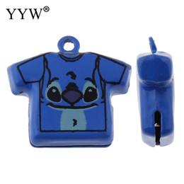 50 teile / beutel Messing Glocke Anhänger Kleidungsstück Gemalt Blau Jingle Bells 22x24x8mm Dekoration Baby Geschenk Für Armband Charme Diy Anhänger von Fabrikanten