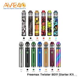 2019 g caneta pro Kit Original Freemax Twister 80W Com Fireluke 2 Tanque com Fireluke malha Bobinas Freemax Twister Vape Tanque