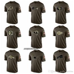 T-shirts en Ligne-Hommes Washington Redskins Seattle Seahawks Rams de Los Angeles Kansa Chefs de la sCity Dallas Cowboys Bills de Buffalo Salut Au Service T-shirt