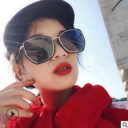 26d6c837b724a Big frame harajuku sunglasses women Korean edition fashion web celebrity  2019 new retro sunglasses women big face glasses round face inexpensive  celebrities ...
