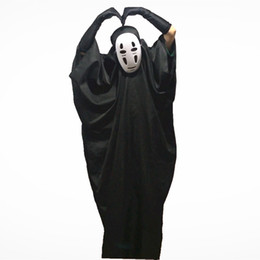 2019 maschere di spirito No Face Maschere Cosplay Maschere Guanti Halloween Costumi per feste Bambini Adulti Spirited Away Unisex Stage Wear Giochi di ruolo Abbigliamento alla moda maschere di spirito economici