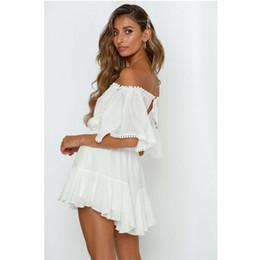 Белый белый комбинезон онлайн-Womens Boho white Jumpsuit Playsuit Romper women summer Bodycon Partysuit jumpsuit romper
