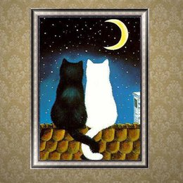 diamond sticker painting Coupons - Couples of Cats Full Diamond Painting Home Decoration Wall Stickers