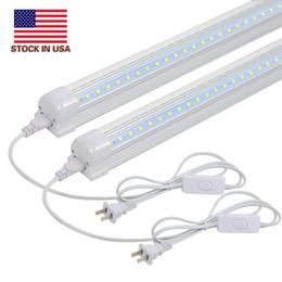 2019 luces de tubo de cocina Luminaria LED de 2 pies - Enlazable, 14W, 6500K, 1680LM, Forma en V, Tubo de luz LED integrado T8, Luces de armario LED para armario, Cocina, Mostrador luces de tubo de cocina baratos