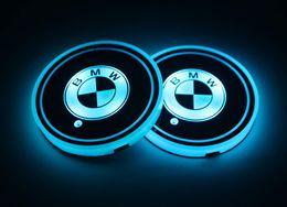 2019 автоменщик 2 шт. Светодиодные автомобильные держатели стаканов для BMW, 7 цветов меняющиеся USB зарядка коврик люминесцентные чашки коврик, светодиодный интерьер лампы атмосферы