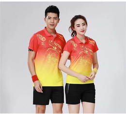 Badminton china online-China Wind Receive A Prize Serve Badminton Serve Suit Men And Women Group Purchase Match Jersey Jersey