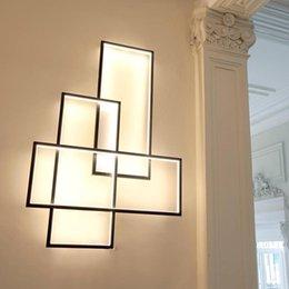 2019 números de casa iluminados Moderna Umbilic LED Lámparas de pared de aluminio Living Bed accesorio Habitación Escaleras cuadrado de pared de luz Fondo de la pared de la cocina luminaria Scone