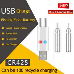 Partido de flotador online-Nuevos flotadores de pesca Recargable CR425 Batería Match USB para usar Traje para diferentes dispositivos de carga