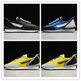 2019 zapatos azules de coche 2019 Nueva llegada Waffle Racing Car Zapatillas amarillas negras azules para zapatillas de deporte atléticas de moda para hombre de calidad superior Tamaño 36-45 rebajas zapatos azules de coche
