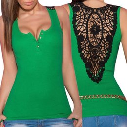 1364a020d3f 2019 Ladies Clothes Top female Bandage Tank Top Summer Sexy Lace Halter Top  Fashion Sleeveless Camisole 30