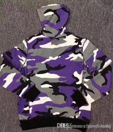 Chapéu de camuflão branco roxo on-line-2017 hot sale camo hoodie box logotipo Com Capuz marca novo estilo camisola roxa camo branco camo hoodies com chapéu hoodies frete grátis
