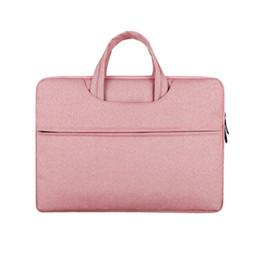 2019 porzellan laptop rosa Tragbare Laptop-Kästen Art- und Weiseunisexfestfarbe 12-15 Zoll schwarze graue rosa dunkelblaue Notizbuch-Tasche Freies Verschiffen rabatt porzellan laptop rosa