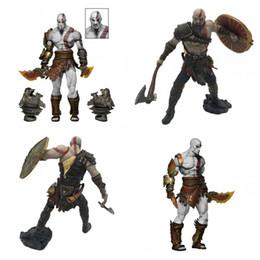 Kratos Action Figures God Of War Versione Battaglia Bambola Double Head Carving 9 pollici Two Styles 110pc F1 supplier carved doll da bambola intagliata fornitori