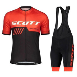 bicycle new style Promo Codes - 2019 New Style Pro Team SCOTT Breathable Bike Clothing Bicycle Clothing 3 Rear Pockets Summer breathable quick dry Cycling Jersey Set Y04192