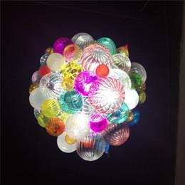 Nuevo conjunto de bolas chihuly iluminación colgante de colores de Murano burbujas de vidrio soplado luces de techo moderna decoración del hogar araña desde fabricantes