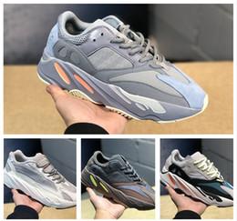 size 40 58e6d 4cdc6 Sconti Kanye West 700 V2 Inertia Grigio Statica 3M Riflettente Mauve  Sneakers Con Box Volt Designer Uomo Donna Scarpe da corsa Drop vendita