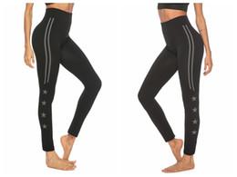 2019 leggings d'été pour femmes SAGACE Womens YOGA pantalon serré taille haute à rayures étoile Imprimer Entraînement sportif Running Gym Leggings Sportwear 2019 Eté Nouveau leggings d'été pour femmes pas cher