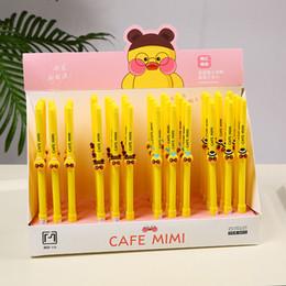 48 penne gel online-48 pz Penne Gel Cartoon CAFE MIMI nero colorato regalo kawaii penne inchiostro gel-inchiostro per la scrittura Carino materiale scolastico ufficio di cancelleria