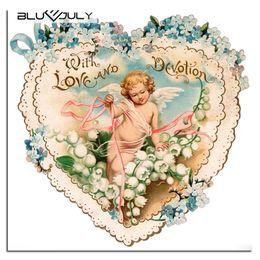 Bordado crianças diy on-line-Anjo criança Pintura Diamante Quadrado Completo Em Forma de Coração imagem Diamante Bordado Para Crianças Mosaico DIY Kit Bordado de Cristal