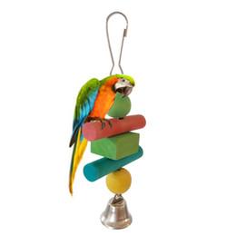 Giocattoli pappagallo Giocattoli per uccelli Pappagallo medio e piccolo di dimensioni per salire scaletta Bar Swing Squirrel Rings Swing Gnaw da
